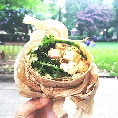 Curry Tofu Wrap from HipCityVeg | Photo via Facebook