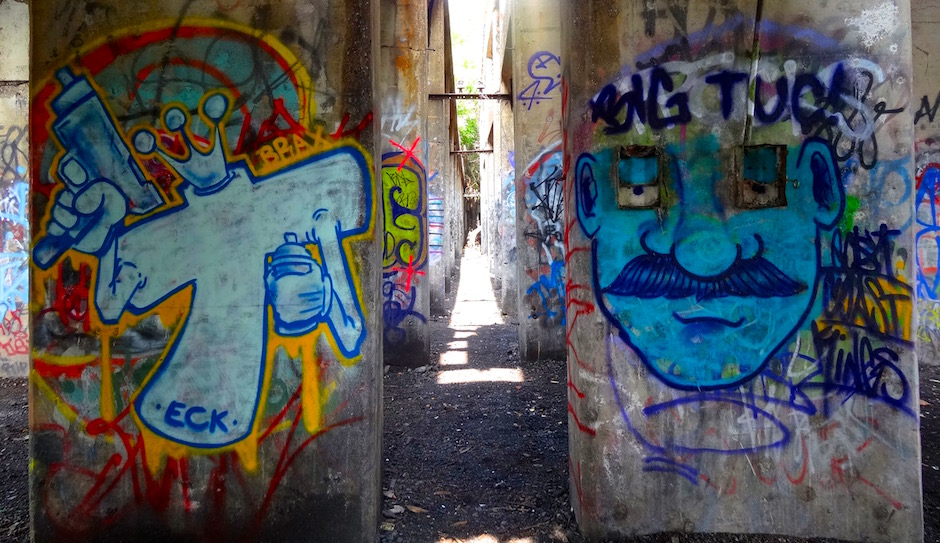 A corridor at Graffiti Pier. | Photo by Liz Spikol