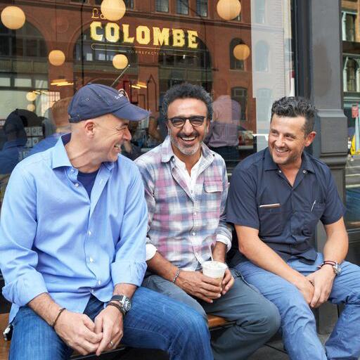 Todd Carmichael, Hamdi Ulukaya and J.P. Iberti | Photo via La Colombe