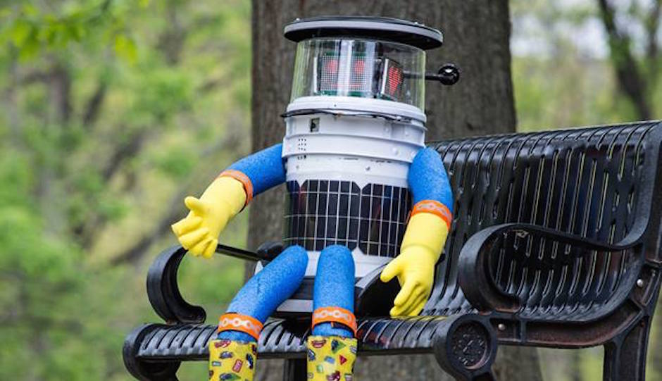 HitchBOT in happier times. | via Facebook.