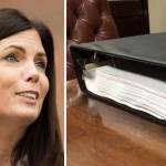 Kathleen Kane, left. Binder full of porn, right.