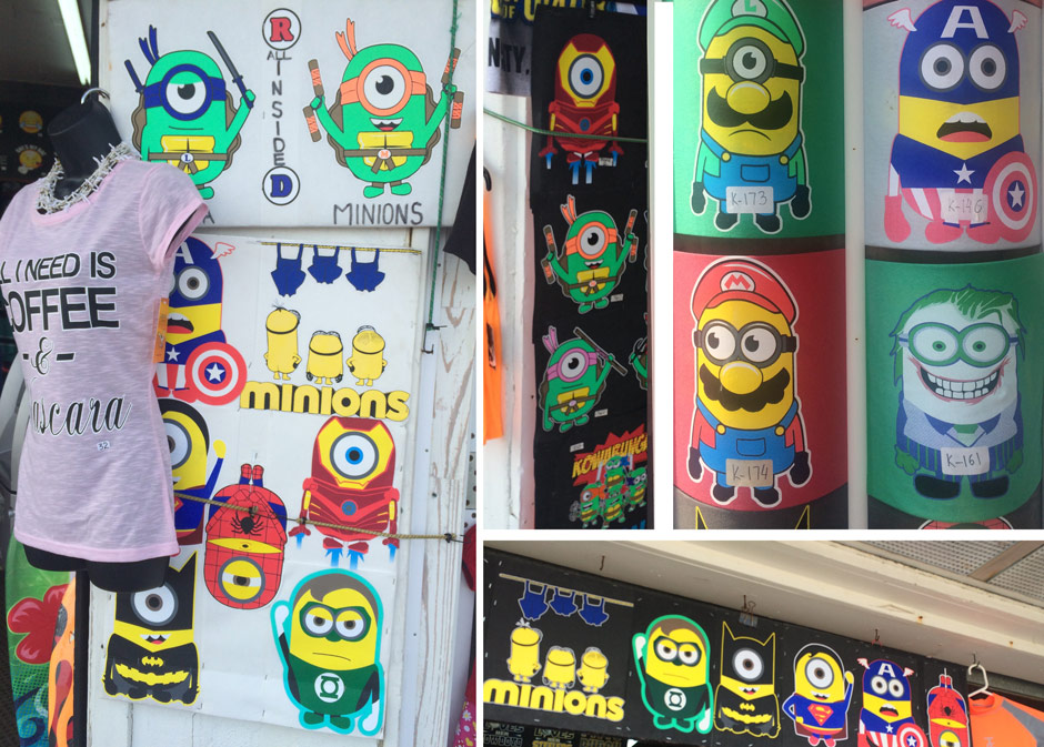Every kind of minion imaginable is on the Wildwood boardwalk. Even naked minions.