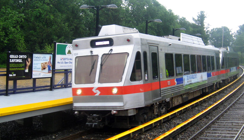 Norristown High Speed Line train