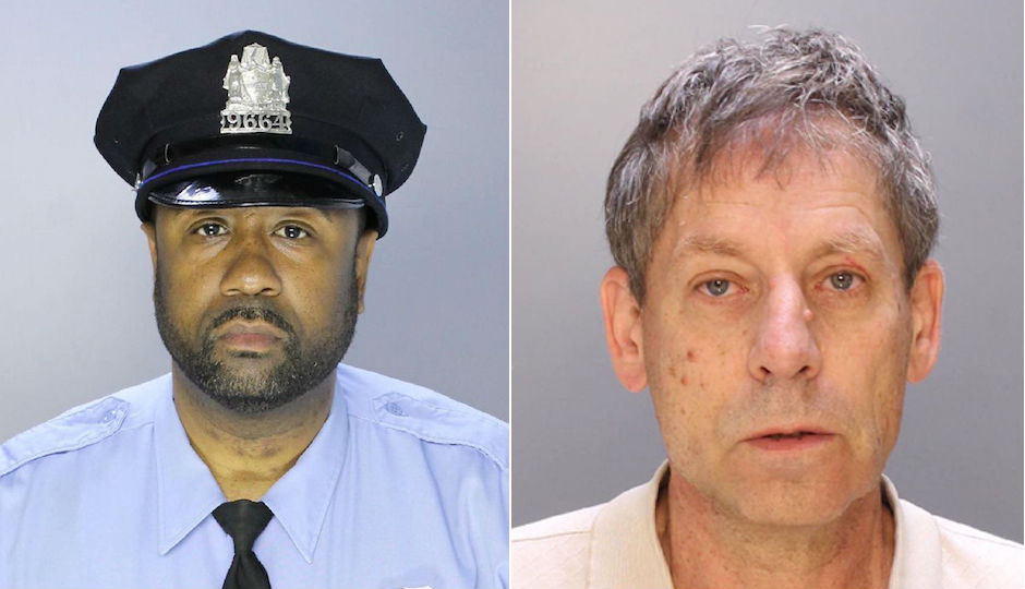 Officer Lamar Poole Sr., left, and Louis Vogwill, right. Courtesy Philadelphia Police Department.