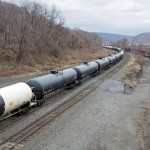 Oil train loaded with Bakken crude oil headed for refineries near Philadelphia PA. There is concern regarding the potential danger of oil trains. | Shutterstock.com