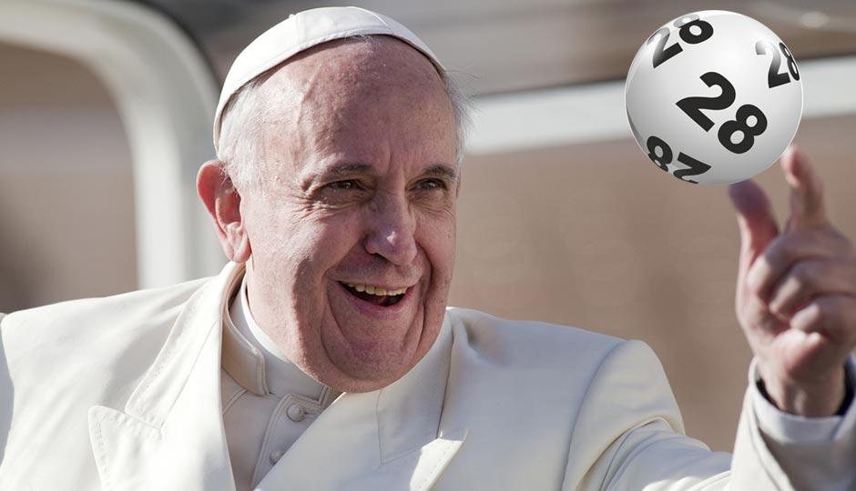 Pope Francis | giulio napolitano. Lottery ball | Shutterstock.com