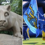 Nittany Lion | Shutterstock.com. University of Delaware Blue Hen | Aspen Photo / Shutterstock.com