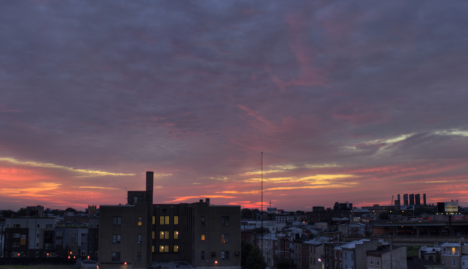 Sunrise over Northern Liberties | Image by Rob Bulmahn, via Flickr. Used under Creative Commons license.