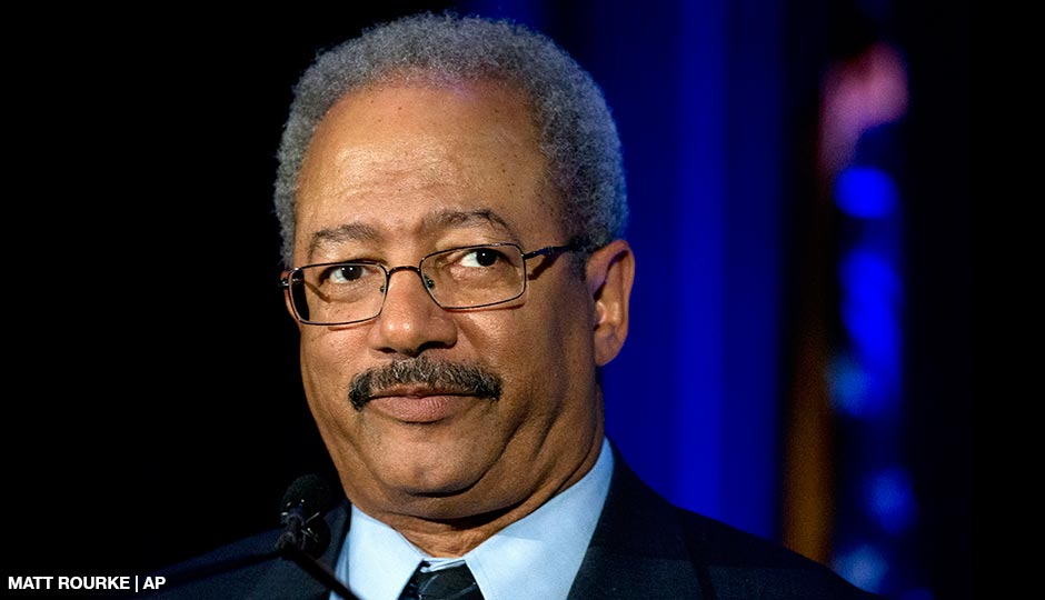 Rep. Chaka Fattah, D-Pa., speaks during a My Brother's Keeper town hall at the School of the Future in Philadelphia on May 7, 2015.