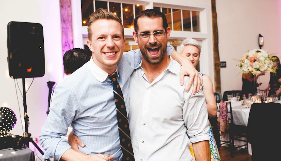 Brian Sims with his boyfriend, Brandon McMullin. Photo by Tara Beth Photography.