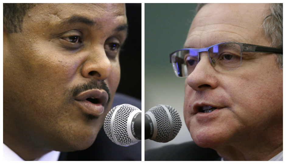 From L to R: L&I Commissioner Carlton Williams and City Controller Alan Butkovitz   Photos by the Associated Press