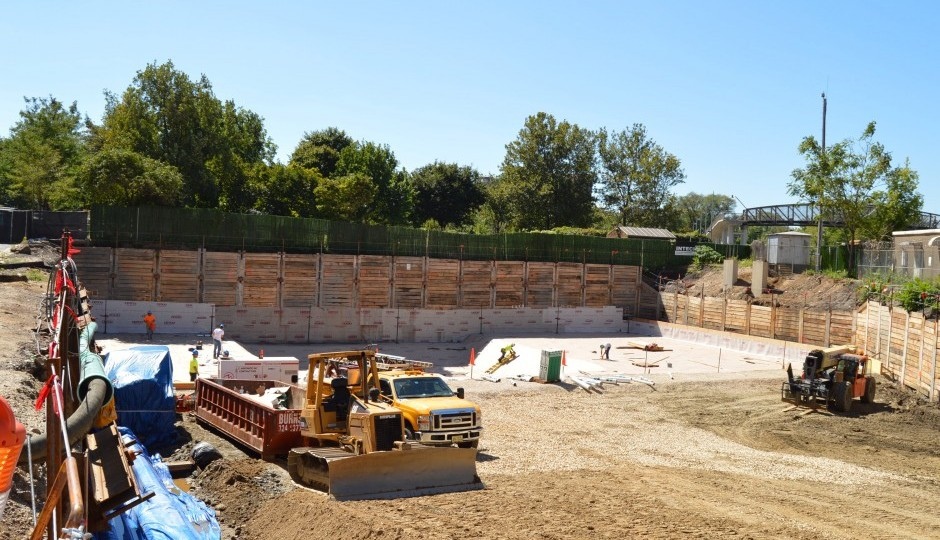The construction site at One Riverside   Photo: James Jennings