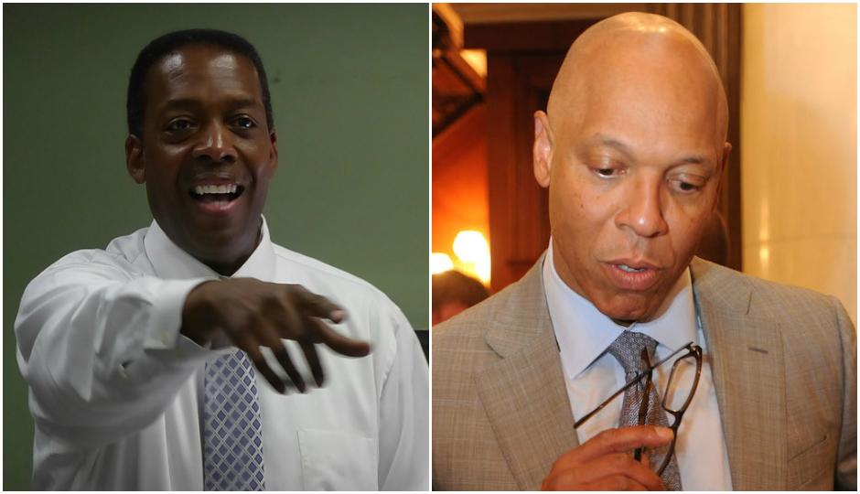 Left, Darrell Clarke. Right, Bill Hite. | Photos by Philadelphia City Council and Associated Press.