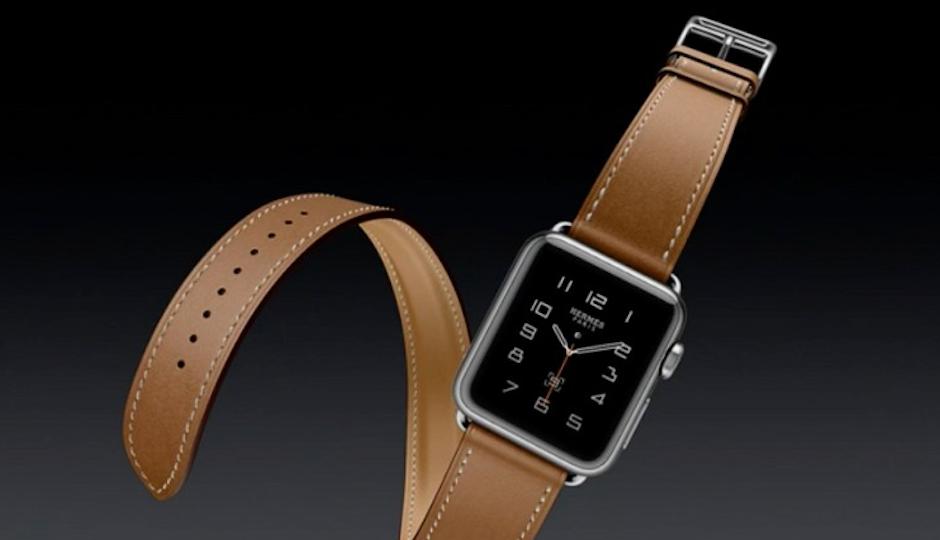 A rendering of the Apple Hermes Watch.