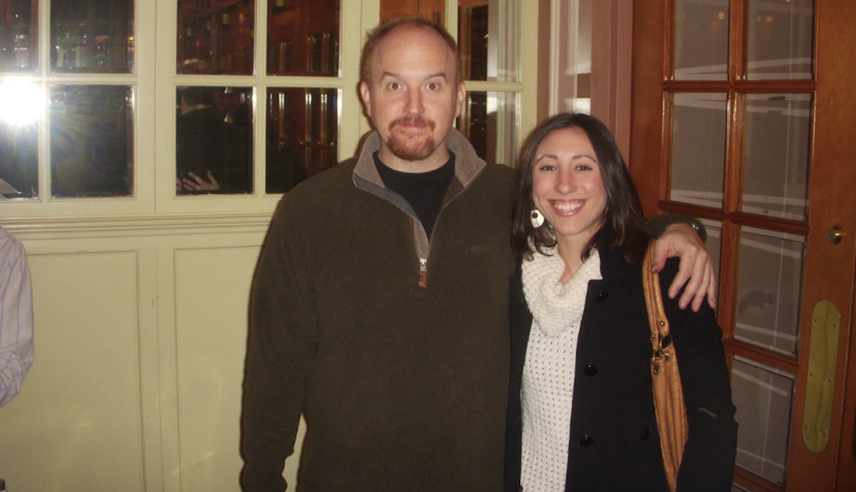 Louis CK with the mystery woman in a 2009 photo.