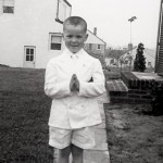 The author at his First Communion. Courtesy of Chris Matthews