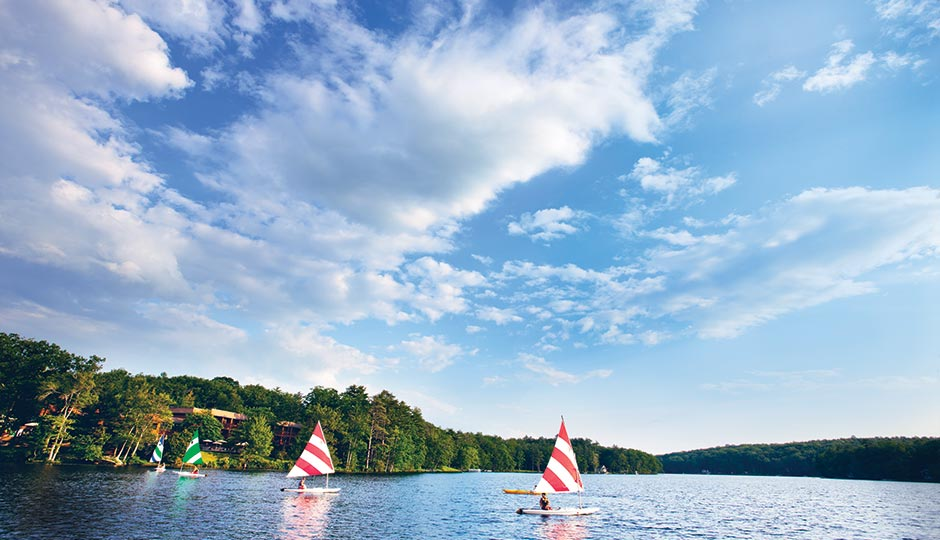 Lake Teedyuskung at the Woodloch Resort. Photograph: Woodloch Resort