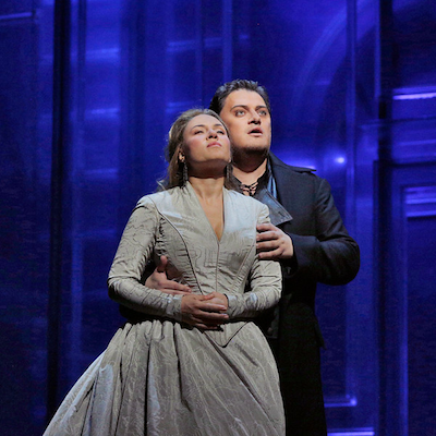 "Aleksandrs Antonenko in the title role and Sonya Yoncheva as Desdemona in Verdi's ""Otello"". Photographed by Ken Howard/ Metropolitan Opera"