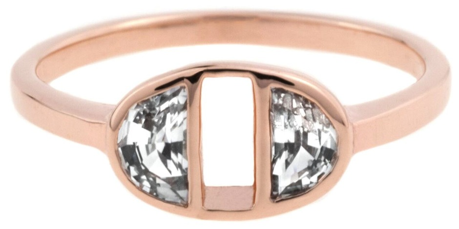 Half Moon ring in rose gold