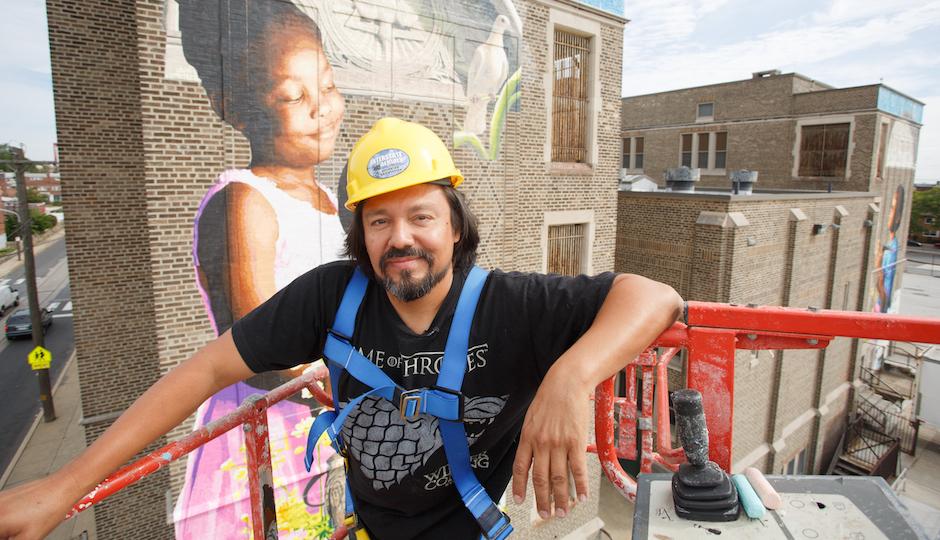 Photo by Steve Weinik for Philadelphia Mural Arts Program.