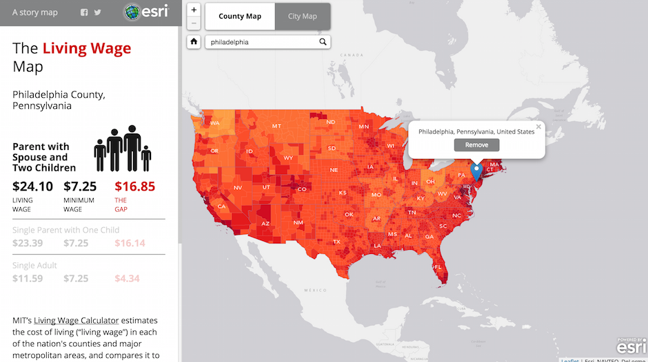 Heres The Gap Between The Minimum Wage And Cost Of Living In - Minimum wage map us