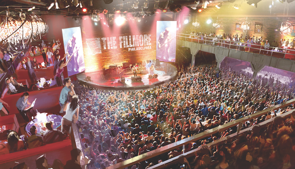 Rendering of the Fillmore's main concert stage.