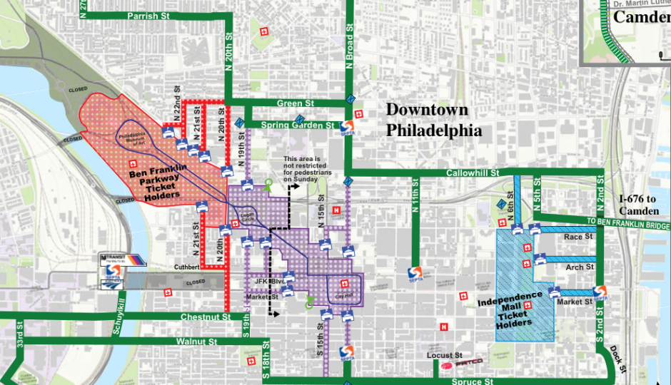 Secret Service Releases Official Pope Security Map Philadelphia – Philadelphia Tourist Map