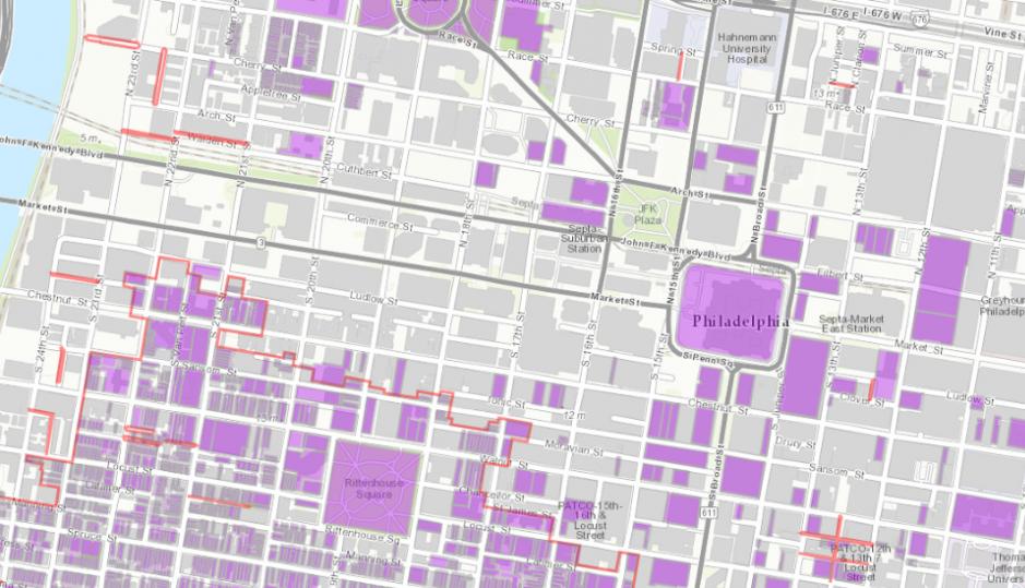 The new  Philadelphia Register of Historic Places interactive map  | Via the Philadelphia Historic Commission/PCPC