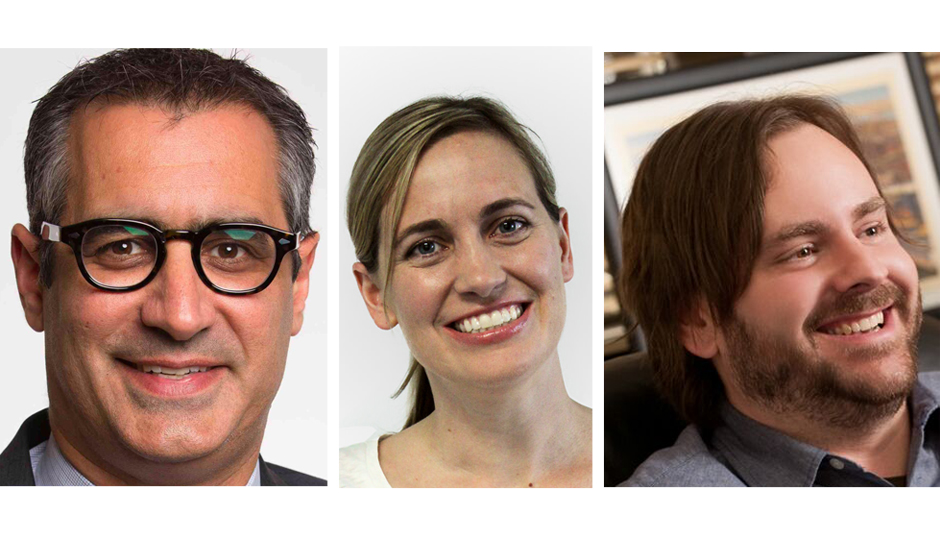 From left: Michael Idinopulos of PeopleLinx; Emily Foote of Apprennet; and Rick Nucci of Guru.