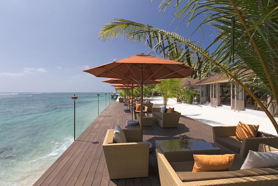 Ocean terrace at 73 Degrees restaurant on Anatara Veli.