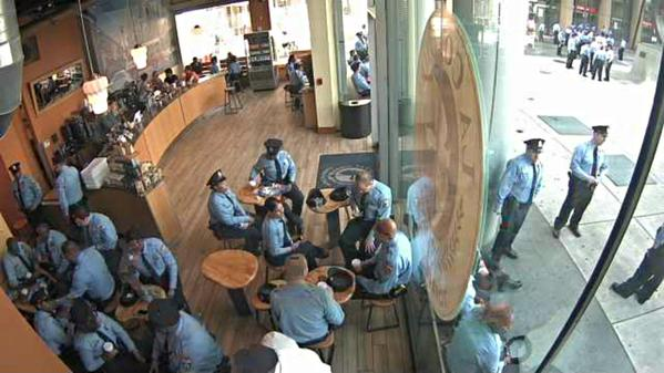 Todd Carmichael tweeted this shot from La Colombe at Dilworth Park