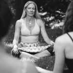 Yoga instructor and life coach Jennifer Schelter leads a meditation session | Photograph by Gene Smirnov