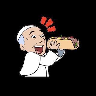 Pope Francis emoji - cheesesteak