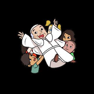 Pope Francis - crowdsurfing emoji