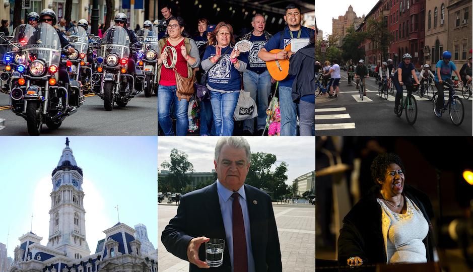 (Photo credits clockwise from top left: Jeff Fusco, Jeff Fusco, Liz Spikol, AP Photo/Alessandra Tarantino, Congressman Brady's office, Wikimedia Commons)