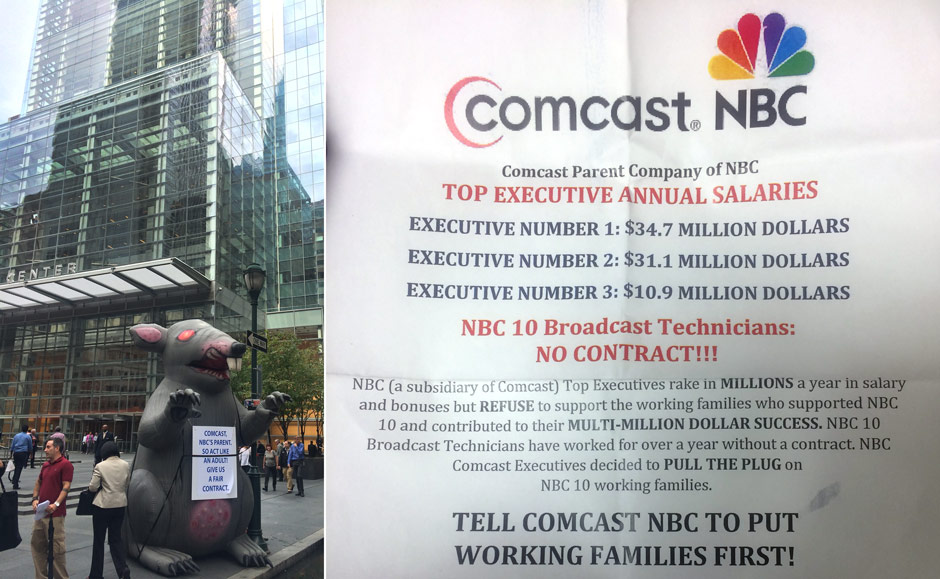 WATCH: Ratmobile Invokes Pope Francis Outside Comcast