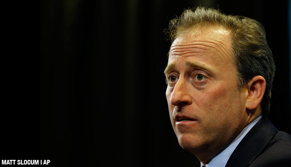 Philadelphia 76ers co-managing owner Josh Harris speaks at a news conference before an NBA basketball game against the Miami Heat, Wednesday, April 15, 2015, in Philadelphia.