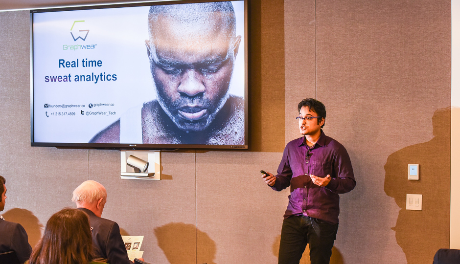 At a recent Dreamit health demo day, Saurabh Radhakrishnan introduces us to GraphWear, a smart sweat patch.
