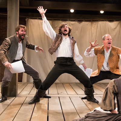 Dan Hodge as Nate, Sean Lally as Sharpe, and Anthony Lawton as Armin | Photo by Mark Garvin.