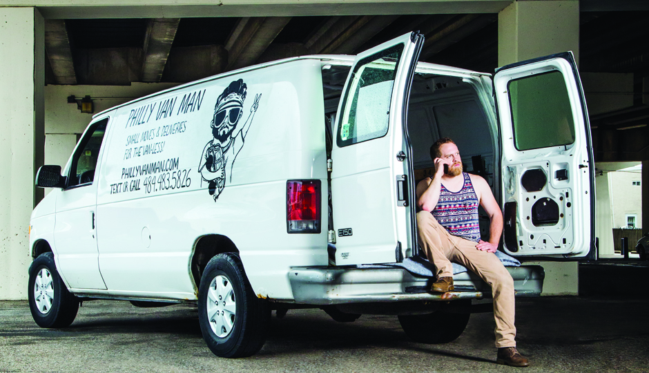 "James Harvey, a.k.a. ""The Philly Van Man."" (Photo by Nell Hoving)"