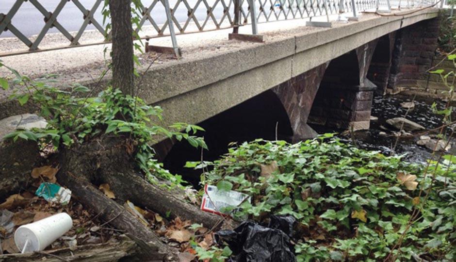 The Ridge Avenue Bridge near where Charles's ashes were found. Photograph by Bradley Maule