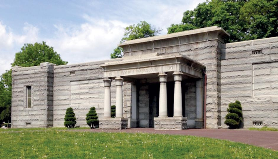 The mausoleum at Ivy Hill Cemetery. Photograph by Liz Spikol