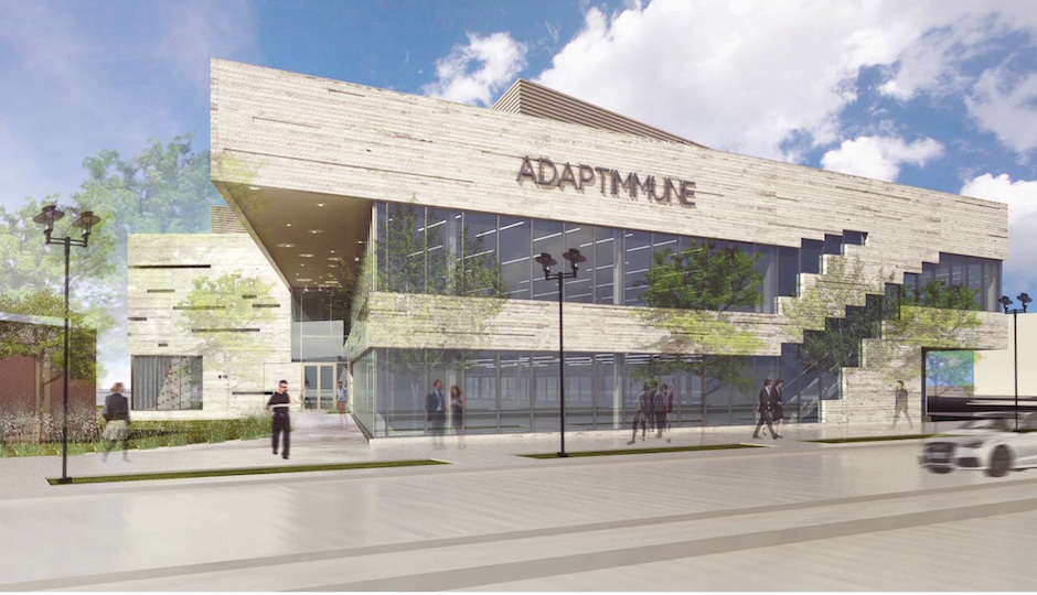 A rendering of 31 Rouse Blvd. in the Navy Yard   Adaptimmune Therapeutics plc