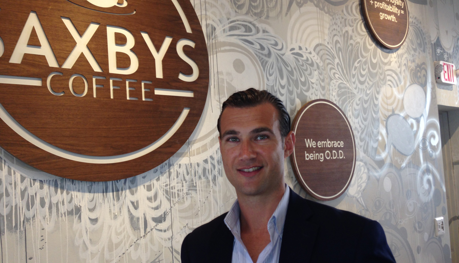 Nick Bayer, CEO of Saxbys Coffee. (Photo by Jared Shelly.)