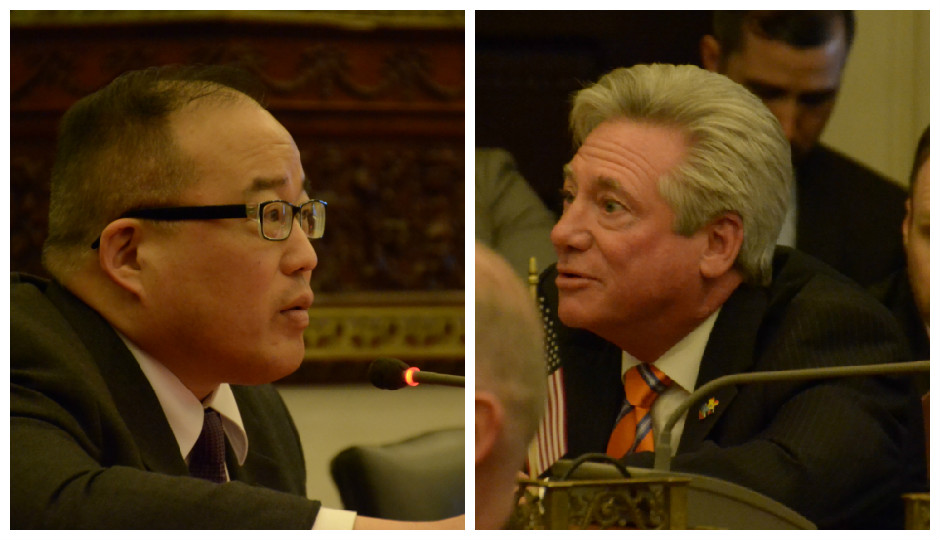 From L to R: Council members David Oh and Dennis O'Brien | Photo Credit: City Council's Flickr