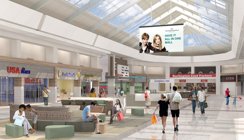 Former Franklin Mills Mall Begins Indoor Renovations