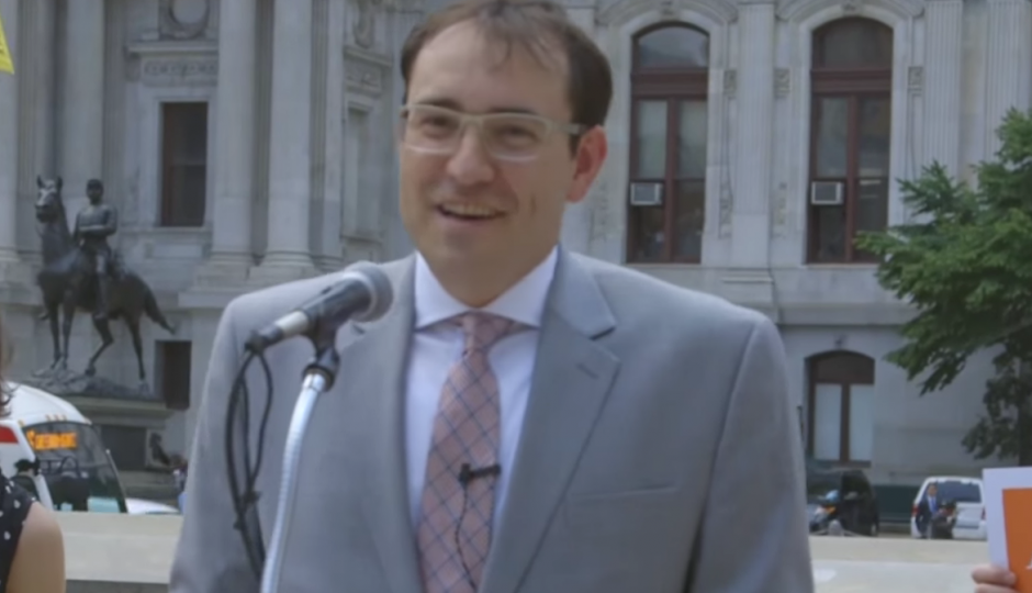 Andrew Stober announcing his candidacy in June. | Photo credit: screenshot of Stober announcement video.