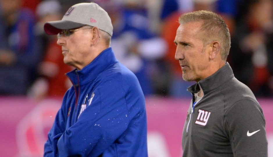 Giants head coach Tom Coughlin and defensive coordinator Steve Spagnuolo. (Photo: USA Today Sports)