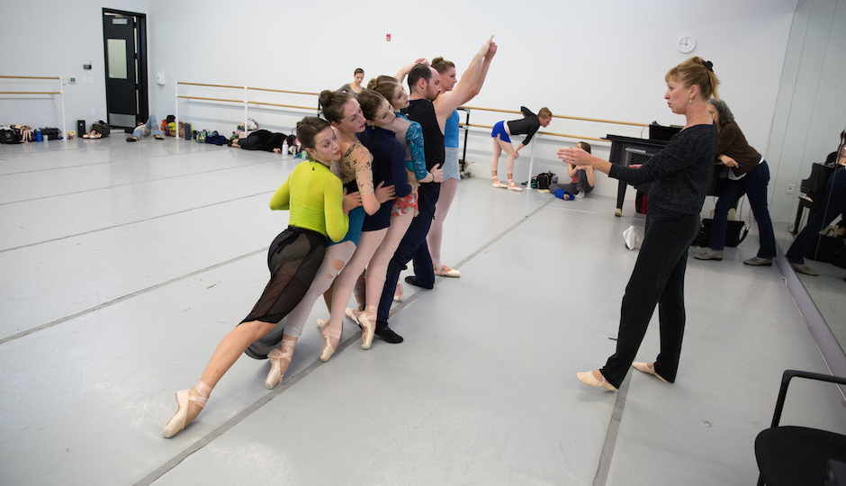 Artists of Pennsylvania Ballet in rehearsal with Kyra Nichols | Photo by Alexander Iziliaev