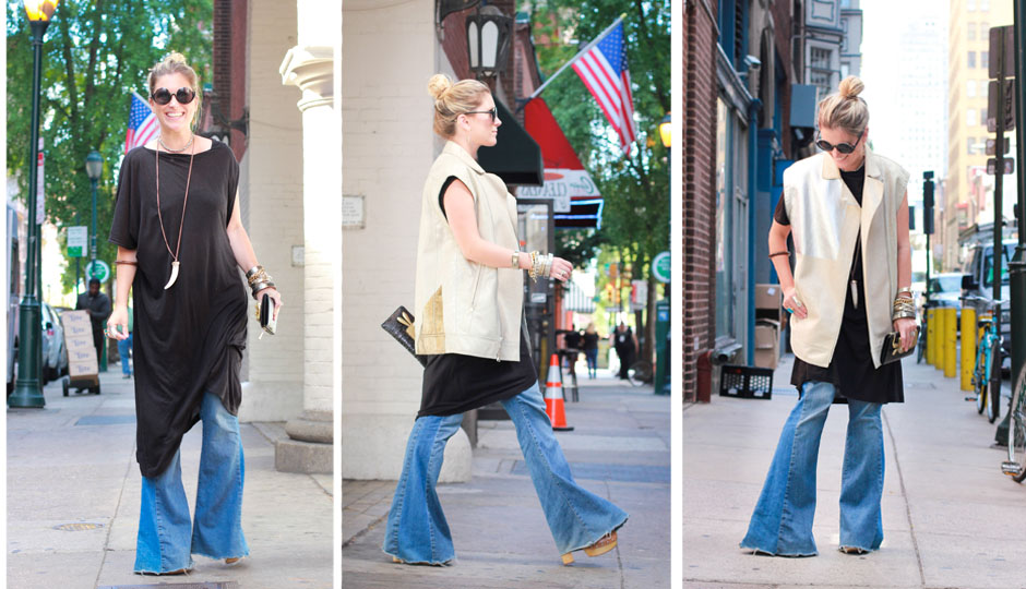 How to Wear Bellbottom Jeans